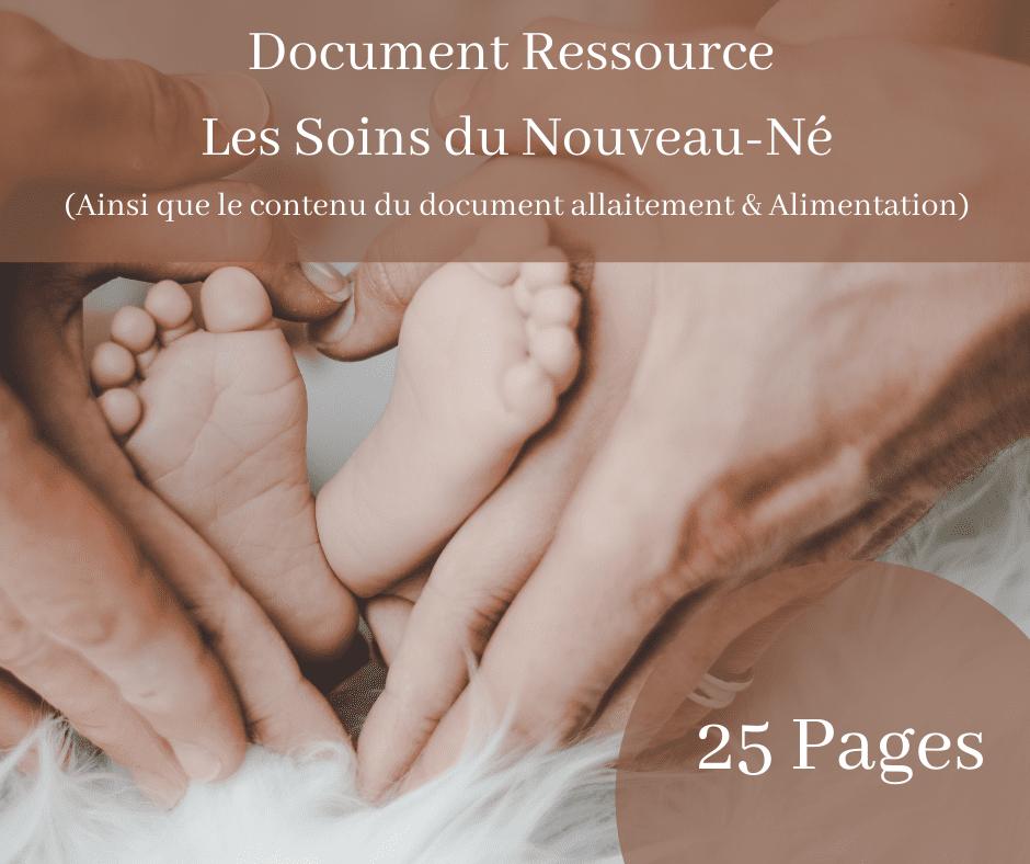 Document Ressource Soins du Nouveau-Né (Et Alimentation)