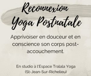 Reconnexion Yoga Postnatal Mercredi 10h
