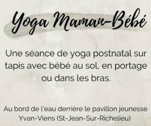 Yoga Maman-Bébé Mardi 10h